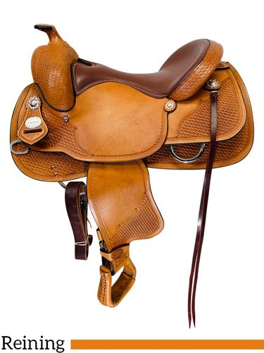 SOLD 2019/09/17  16 Inch Used Crates Classic Reining Saddle 2221 *Free Shipping*
