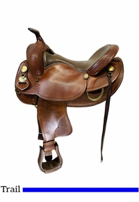 16 Inch Used Crates Equi-Fit Trail Saddle 404-4W *Free Shipping*