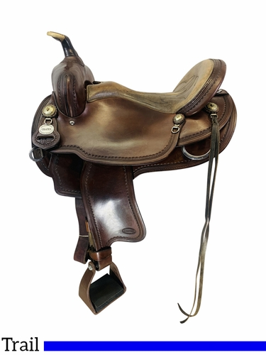 SOLD 2021/04/22  16 Inch Used Crates Light Ladies Trail Saddle 2120 *Free Shipping*