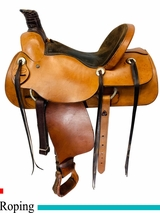 16 Inch Used Dakota Ranch Roper Saddle 208 usdk4522 *Free Shipping*