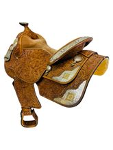 16 Inch Used Dale Chavez Show Saddle  *Free Shipping*