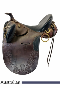 16 Inch Used Down Under Australian Saddle  *Free Shipping*