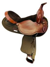 16 Inch Used Fabtron Roughout Seat Cordura Trail Saddle, FLOOR MODEL 7106