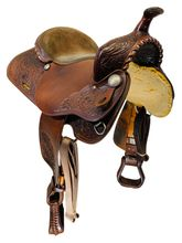PRICE REDUCED! 16 Inch Used Guffey Trail and Pleasure Saddle Custom *Free Shipping*