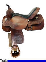 16 Inch Used High Horse by Circle Y Long Branch Trail Saddle 6816 *Free Shipping*