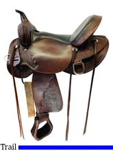 SOLD 2020/10/19  16 Inch Used High Horse Oyster Creek Trail Saddle 6808 *Free Shipping*