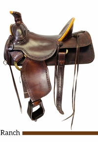 PRICE REDUCED! 16 Inch Used Linda Little Maker Ranch Saddle 32-1999 *Free Shipping*