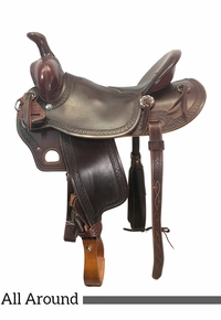 PRICE REDUCED!!16 Inch Used McCall McLite All Around Saddle A014119 *Free Shipping*