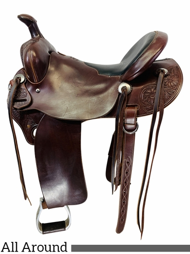 16 Inch Used McCall McLite All Around Saddle A135620 *Free Shipping*