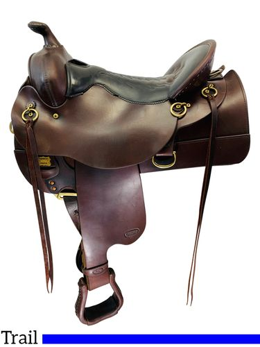SOLD 2019/11/06  16 Inch Used Reinsman Comfort Trail Saddle 4158 *Free Shipping*