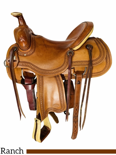 16 Inch Used Reinsman Ranch Saddle 4174 *Free Shipping*