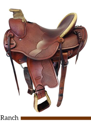 SOLD 2019/10/11  16 Inch Used Reinsman Wade Ranch Custom Saddle *Free Shipping*