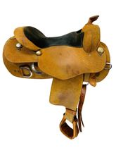 SOLD 2019/10/05  16 Inch Used Reinsman Wide Training Saddle *Free Shipping*