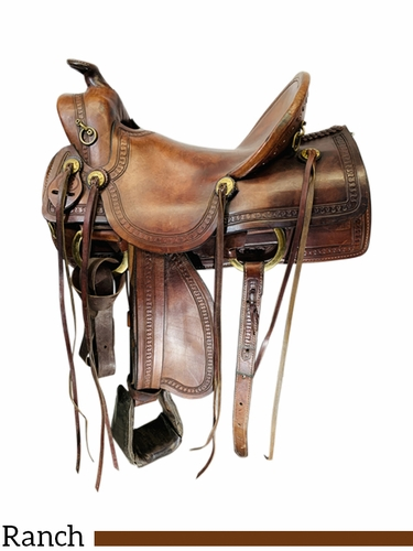 SOLD 2021/04/05 16 Inch Used Rocking R Ranch Saddle *Free Shipping*