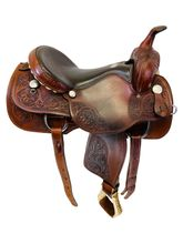 16 Inch Used Rocking R Team Penning Saddle 975 *Free Shipping*