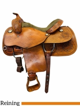 16 Inch Used Tex Tan Reining Saddle 08-1277NA6 *Free Shipping*