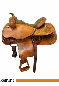 PRICE REDUCED! 16 Inch Used Tex Tan Reining Saddle 08-1277NA6 *Free Shipping*