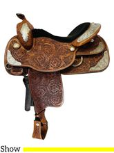 16 Inch Used Tex Tan Show Saddle  *Free Shipping*