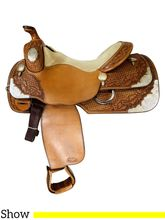 PRICE REDUCED! 16 Inch Used Vic Bennet's Show Saddle Custom *Free Shipping*