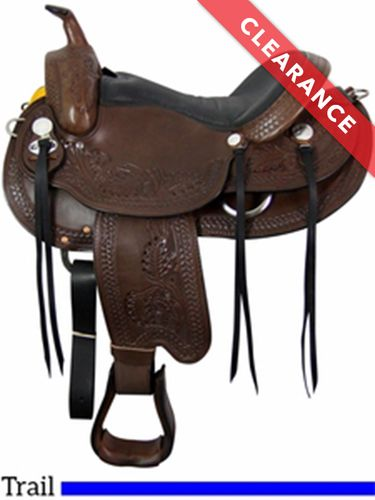 "16"" South Bend Saddle Co Syracuse Wide Trail Saddle 2250 CLEARANCE"