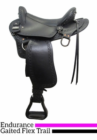 "16"" to 18""  Big Horn Endurance Gaited Flex Saddle 1687"