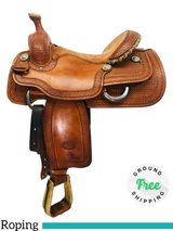 "16"" Used Billy Cook Arena Roper Saddle 2146 usbi4329 *Free Shipping*"