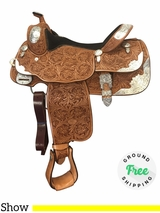 "PRICE REDUCED! 16"" Used Billy Cook Show Saddle 9014 usbi4196 *Free Shipping*"