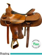 "16"" Used Billy Cook Team Roper 2082 Saddle usbi4368 *Free Shipping*"