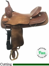 "16"" Used Billy Cook Wide Cutter Saddle 8540 usbi4099 *Free Shipping*"