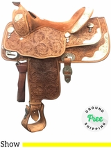 """16"""" Used Billy Cook Wide Show Saddle 9022 usbi4091 *Free Shipping*"""