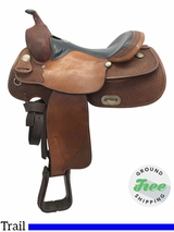 """SOLD 18/07/09 16"""" Used Billy Cook Wide Trail Saddle 1700 usbi3781 *Free Shipping*"""