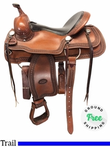 "16"" Used Billy Cook Wide Trail Saddle 1777 usbi4125 *Free Shipping*"