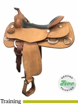 """SOLD 2018/03/09 16"""" Used Billy Cook Wide Training Saddle 6030 usbi3897 *Free Shipping*"""