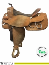 """PRICE REDUCED! 16"""" Used Billy Cook Wide Training Saddle 9030 usbi4063 *Free Shipping*"""