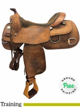 """16"""" Used Billy Cook Wide Training Saddle 9030 usbi4161 *Free Shipping*"""