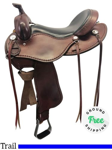 """SOLD 2019/10/28  16"""" Used Cashel SA-CT Trail Saddle usch4166 *Free Shipping*"""