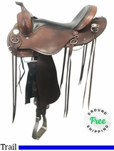 """PRICE REDUCED! 16"""" Used Cashel Wide Trail Saddle usch4061 *Free Shipping*"""