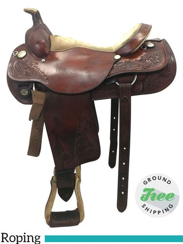 """SOLD 2019/09/29  PRICE REDUCED! 16"""" Used Circle Y Roping Saddle 2709 uscy3769 *Free Shipping*"""