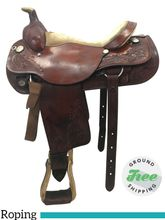 "PRICE REDUCED! 16"" Used Circle Y Roping Saddle 2709 uscy3769 *Free Shipping*"