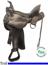 """SOLD 18/06/15 16"""" Used Crest Ridge Wide Trail Saddle 169 Sentry uscg4130 *Free Shipping*"""