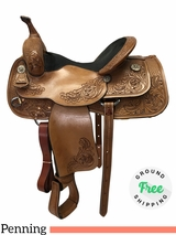 "PRICE REDUCED! 16"" Used Dale Chavez Team Penning Saddle usdc4225 *FREE SHIPPING*"