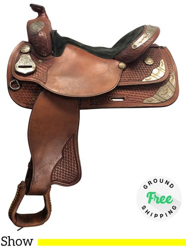 """PRICE REDUCED! 16"""" Used Silver Royal Medium Show Saddle ussr4144 *Free Shipping*"""