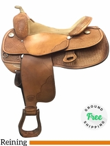 "PRICE REDUCED!! 16"" Used Tex Tan Wide Equi-Tex Flex Reining Saddle 08-1270-1 ustt4022  *Free Shipping*"