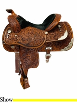 16Inch Used Circle Y Richard Shrake Equitation Saddle 1666 uscy4512 *Free Shipping*
