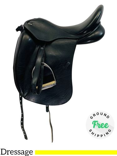 """PRICE REDUCED! 17.5"""" Used Marcel Toulouse Marianne Dressage Saddle usto4361 *Free Shipping*"""