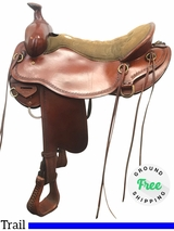 """17.5"""" Used Tucker Competitive Wide Trail Saddle 550 ustk4042 *Free Shipping*"""