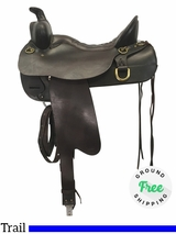 "SOLD 2018/10/02  17.5"" Used Tucker Trail High Plains 260 Saddle ustk4198 *Free Shipping*"