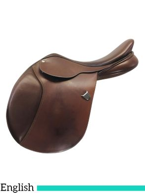 17.5Inch Used Bates Caprilli Close Contact Saddle with Forward Flap *Free Shipping*