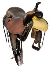 17.5Inch Used Big Horn Draft Horse Trail Saddle 1683 *Free Shipping*