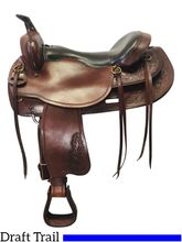 17.5Inch Used Big Horn Draft Trail Saddle 1683 *Free Shipping*